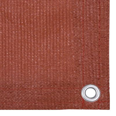 vidaXL Paravan de balcon, cărămiziu, 75x500 cm, HDPE