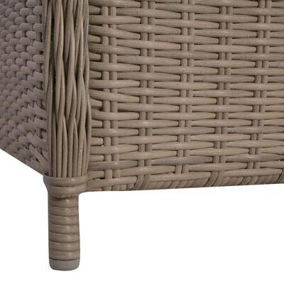 vidaXL Set mobilier de grădină, 7 piese, maro
