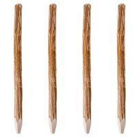vidaXL Stâlpi de gard ascuțiți, 4 buc., 150 cm, lemn de alun