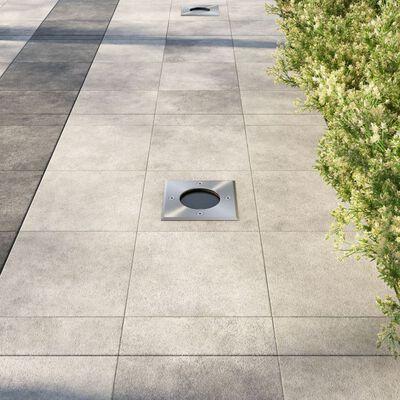 vidaXL Lămpi de sol pentru exterior, 3 buc., pătrat