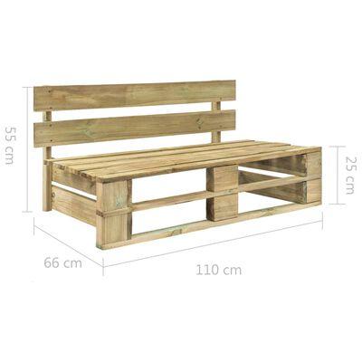 vidaXL Set mobilier din paleți cu perne, 6 piese, lemn pin tratat verde