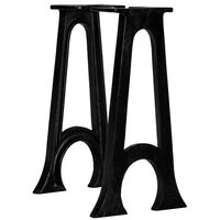 vidaXL Picioare bancă, 2 buc., fontă, bază arcuită în formă de A