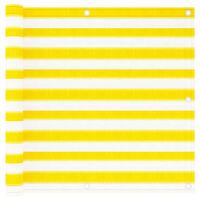 vidaXL Paravan de balcon, galben și alb, 90x300 cm, HDPE