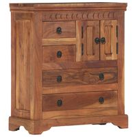 vidaXL Servantă, 62 x 30 x 75 cm, lemn masiv de acacia