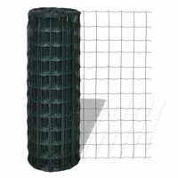 vidaXL Euro gard, verde, 10 x 0,8 m, oțel