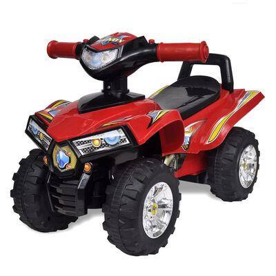 ATV pentru copii cu sunet și lumină, roșu