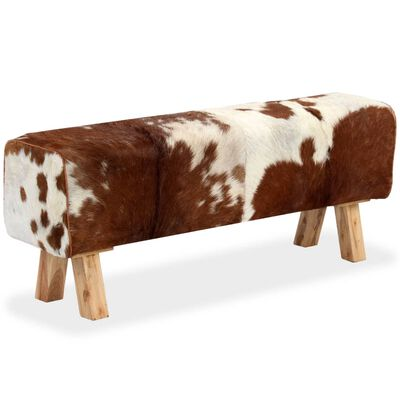 vidaXL Bancă, 120x30x45 cm, piele naturală de capră