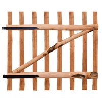 vidaXL Poartă de gard simplă, din lemn de alun, 100x90 cm