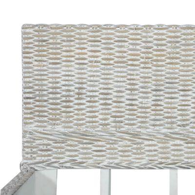 vidaXL Cadru de pat, gri, 140 x 200 cm, ratan natural