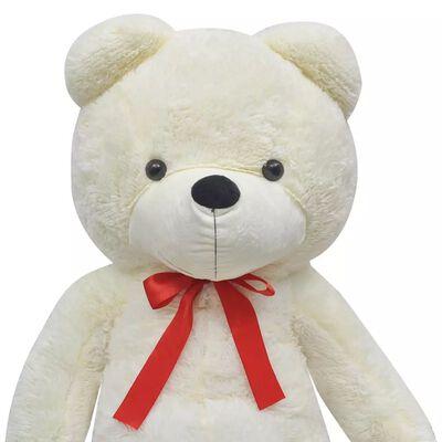 vidaXL Ursuleț de pluș moale de jucărie XXL, alb, 135 cm