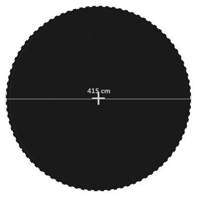 vidaXL Podea de trambulină rotundă de 4,57 m, negru, material textil