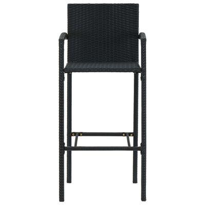 vidaXL Set mobilier de bar de grădină, 3 piese, negru