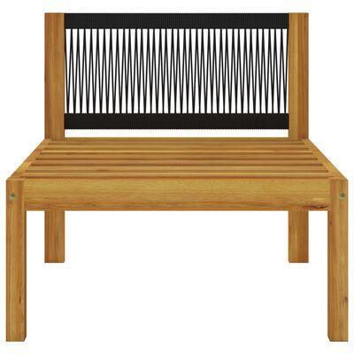 vidaXL Set mobilier de grădină, 5 piese, perne, crem, lemn masiv acacia