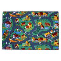 AK Sports Covoraș de joacă cu străzi și orășel, 140x200 cm, 0309004