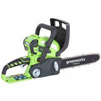 Greenworks Drujbă fără baterie de 40 V, G40CS30, 30 cm, 20117
