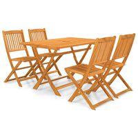 vidaXL Set mobilier de exterior pliabil, 7 piese, lemn masiv de acacia