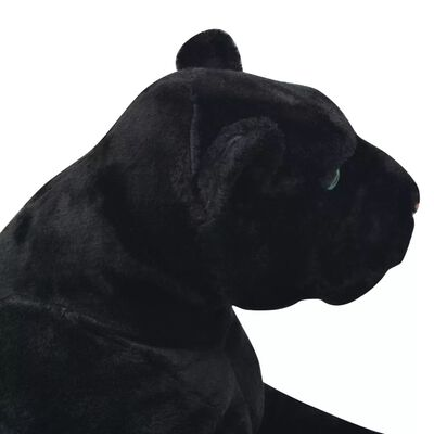 vidaXL Panteră de jucărie din pluș, negru, XXL