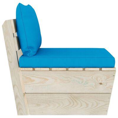 vidaXL Canapea de mijloc paleți de grădină cu perne, lemn molid tratat
