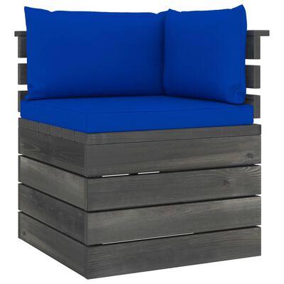 vidaXL Set mobilier grădină din paleți cu perne, 9 piese, lemn de pin