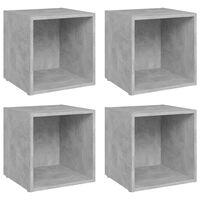 vidaXL Comode TV, 4 buc., gri beton, 37x35x37 cm, PAL