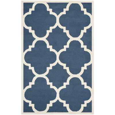 Covor Safavieh Modern & Geometric Clark, Lana, Albastru/Bej, 160x230