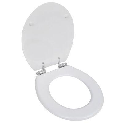 vidaXL Capace WC cu închidere silențioasă, 2 buc, alb, MDF