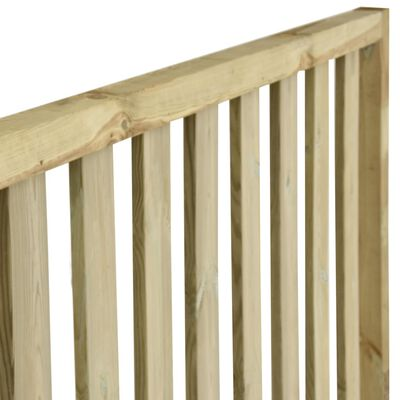 vidaXL Gard de grădină, 7,1 x 1,7 m, lemn de pin tratat