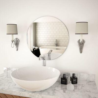 vidaXL Oglindă de perete, 50 cm, sticlă, rotundă