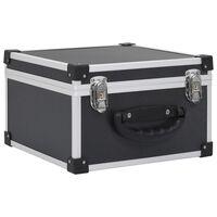vidaXL Casetă pentru 40 CD-uri, negru, aluminiu ABS