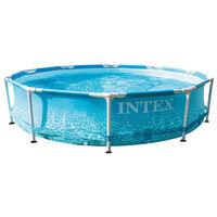Intex Piscină cu cadru metalic Beachside, 305x76 cm