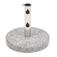 vidaXL Suport umbrelă de soare Granit Rotund 22 kg