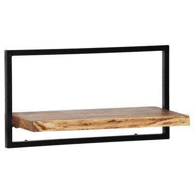 vidaXL Set rafturi de perete 5 piese, lemn masiv de acacia și oțel