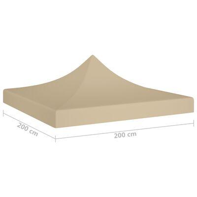 vidaXL Acoperiș pentru cort de petrecere, bej, 2 x 2 m, 270 g/m²