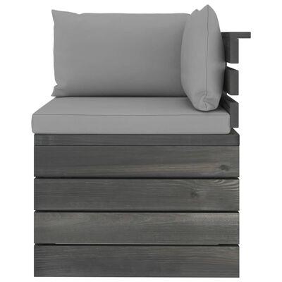 vidaXL Set mobilier grădină paleți cu perne, 7 piese, lemn masiv pin