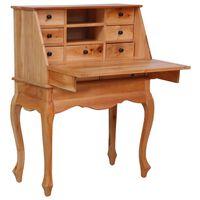 vidaXL Birou secretar, 78 x 42 x 103 cm, lemn masiv de mahon