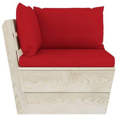 vidaXL Set mobilier grădină din paleți cu perne, 9 piese, lemn molid