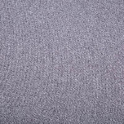 vidaXL Fotoliu cu taburet, gri, material textil