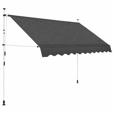 vidaXL Copertină retractabilă manual, antracit, 300 cm