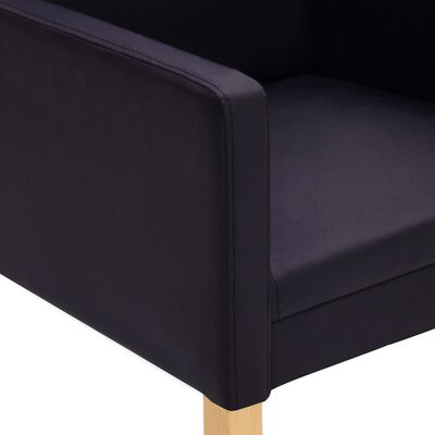 vidaXL Scaune de sufragerie, 2 buc., maro închis, piele ecologică