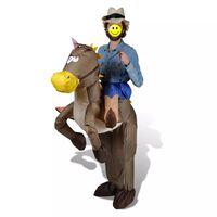 Costum gonflabil cowboy și cal