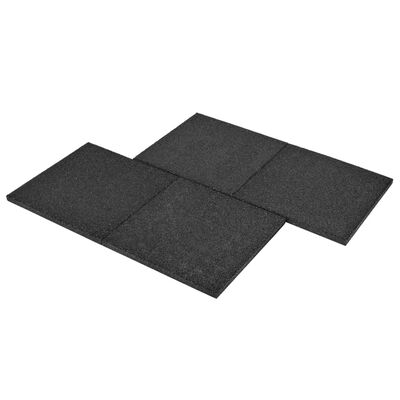 vidaXL Plăci de protecție la cădere 6 buc. negru 50x50x3 cm cauciuc