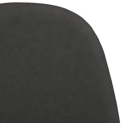 vidaXL Scaune de bucătărie 2 buc. negru 45x54,5x87 cm piele ecologică