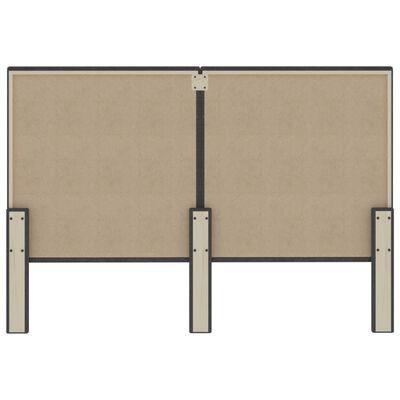 vidaXL Tăblie de pat, gri închis, 180 x 200 cm, material textil