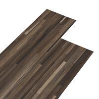 vidaXL Plăci de pardoseală, maro cu dungi, 5,26 m², PVC, 2 mm