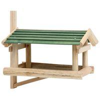 vidaXL Hrănitor de păsări, 35 x 29,5 x 21 cm, lemn masiv