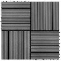 vidaXL Plăci de pardoseală, 22 buc., gri, 30 x 30 cm, WPC, 2 mp