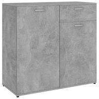 vidaXL Servantă, gri beton, 80 x 36 x 75 cm, PAL
