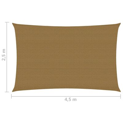vidaXL Pânză parasolar, gri taupe, 2,5x4,5 m, HDPE, 160 g/m²