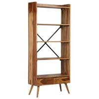 vidaXL Bibliotecă din lemn masiv de sheesham, 75 x 30 x 170 cm