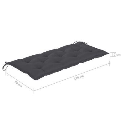 vidaXL Pernă pentru balansoar, antracit, 120 cm, material textil